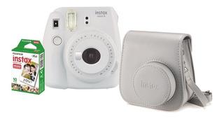 Kit Máquina Fotográfica Instax Instantânea Mini 9 Filme 10