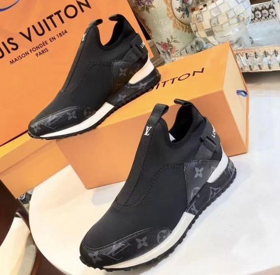 Tênis Louis Vuitton Monograma Run Away 100% Couro N: 36 Br