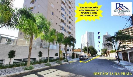 Apartamento Para Venda Em Praia Grande, Caiçara, 2 Dormitórios, 1 Suíte, 1 Banheiro, 1 Vaga - Ap00079