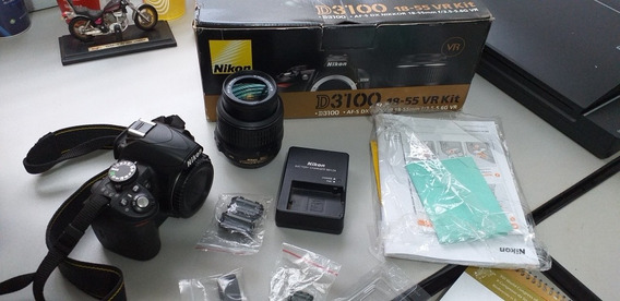 Câmera Nikon D3100 C/ Lente 18x55mm Semi-nova Na Caixa