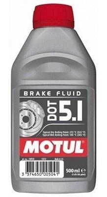 Fluido De Freio 500 Ml Motul Dot 5.1 Brake Fluid 100% Sintet