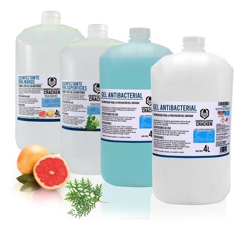 Gel Antibacterial Para Manos Desinfectante 4 Litros