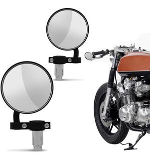 Retrovisor Guidao Cafe Racer Chopper Custom Bobber Motos Par