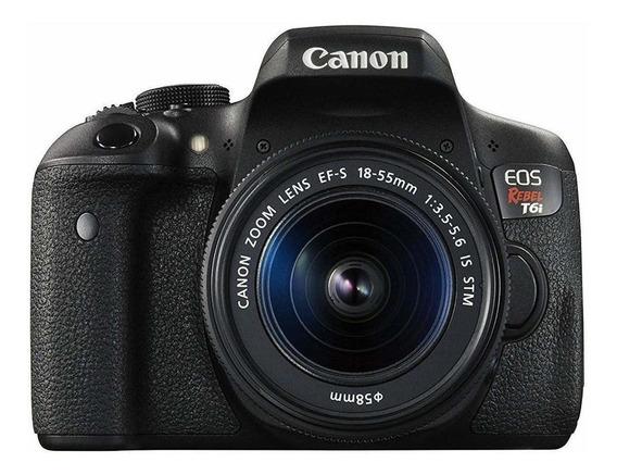 Canon EOS Rebel T6i 18-55mm IS STM Kit DSLR cor preto