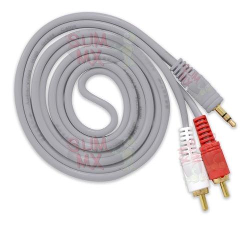 Imagen 1 de 10 de Cable Auxiliar De Audio 3.5 M A 2 Rca 1.5 Metros Estereo Aux