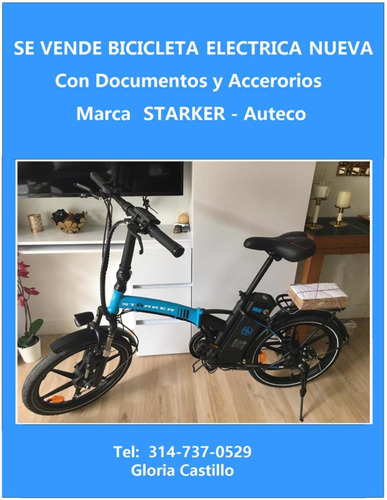 Bicicleta Eléctrica Nueva Starker Auteco