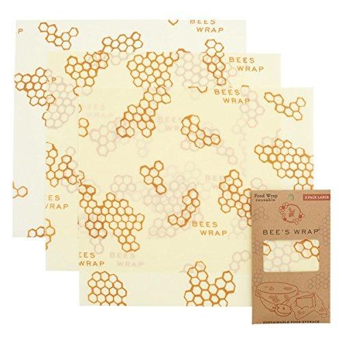 Bees Wrap Large 3 Pack Eco Friendly Reutilizable Food Wraps