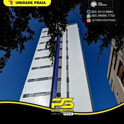 Apartamento Com 2 Dormitórios À Venda, 62 M² Por R$ 315.000,00 - Manaíra - João Pessoa/pb - Ap4785