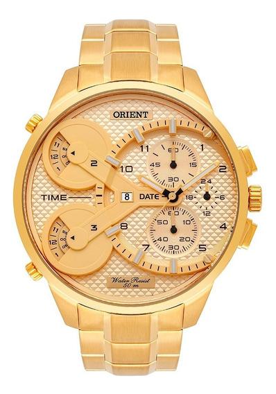 Relógio Orient Xl Masculino Cronógrafo Mgsst003 Dourado
