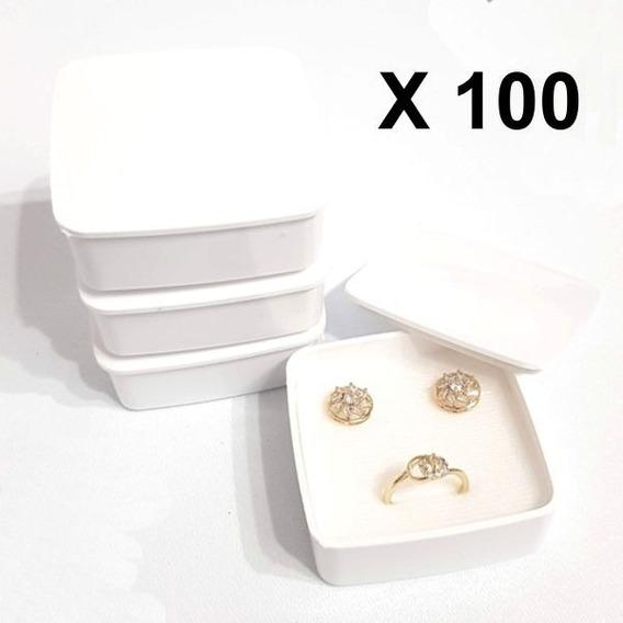100 Cajas Plástica Para Aretes Y Anillo 812b