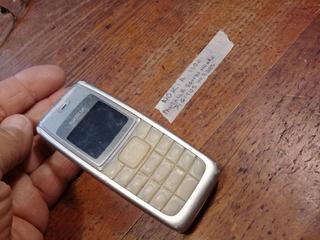 Celular Nokia 1100 Digitos Verdes Fondo Negro