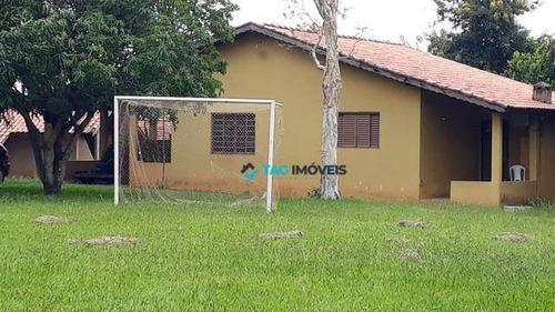 Chácara Com 3 Dormitórios À Venda, 75000 M² Por R$ 1.300.000 - Cidade Satélite Íris - Campinas/sp - Ch0031
