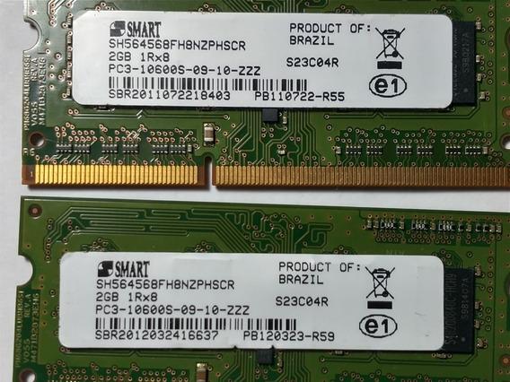 Kit 2 X Memoria Smart Ddr3 2gb 1333 Mhz