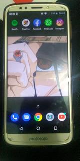 Cell Moto E5 Impressão Digital E Facial