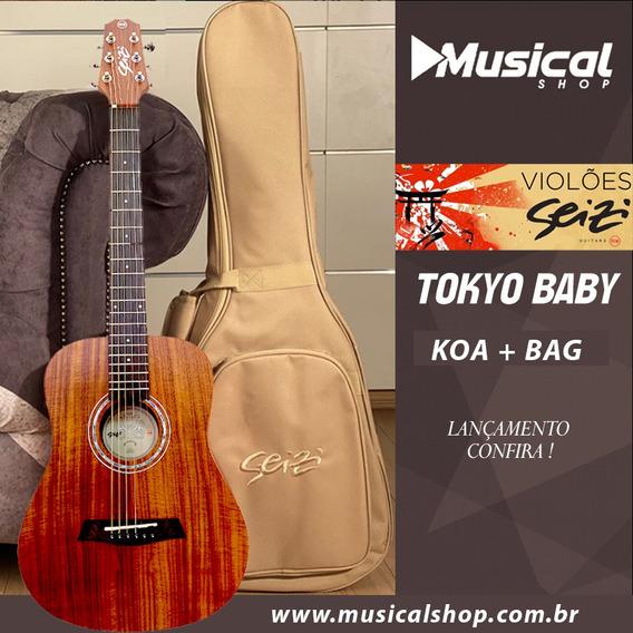 Violao Seizi Tokyo Baby Koa + Bag
