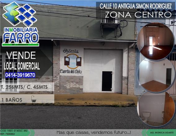 Venta De Local Sector Centro Ve01-0145sc-mu
