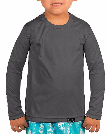 2 Camisas Infantil Unissex Proteção Solar Slim Fitness Uv50
