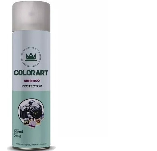 Verniz Spray Colorart Protector Brilhante Fotos Gravuras