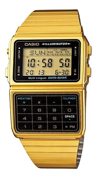 Relógio Casio Masculino Data Bank Dbc-611g-1df Calculadora