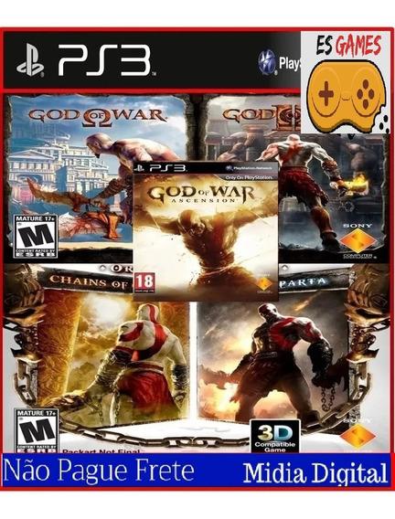 Combo God Of War Coleção Ps3 Psn Digital Envio Hoje