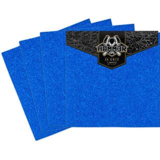 4 Lixas Hammer Grossa Azul - Skate Longboard Importada