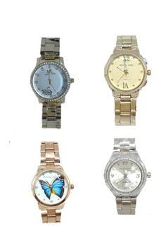 Relógios Dourado Femininos Para Revenda - Kit 5 Unidades