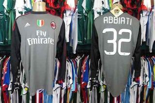 Milan 2012 Camisa De Goleiro Tamanho Gg # 32 Abbiati.