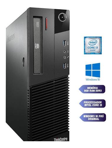 Computador I3 4 Geração + 8gb Ram Potente Windows 10 Pro Nf