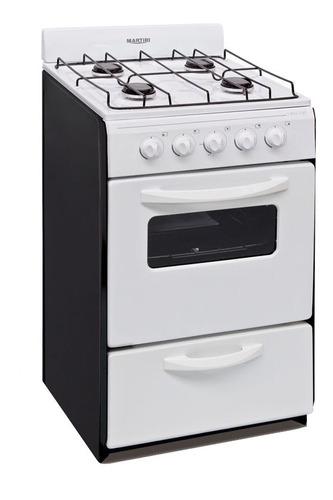Cocina Martiri New Lujo multigas 4 hornallas  blanca puerta  con visor