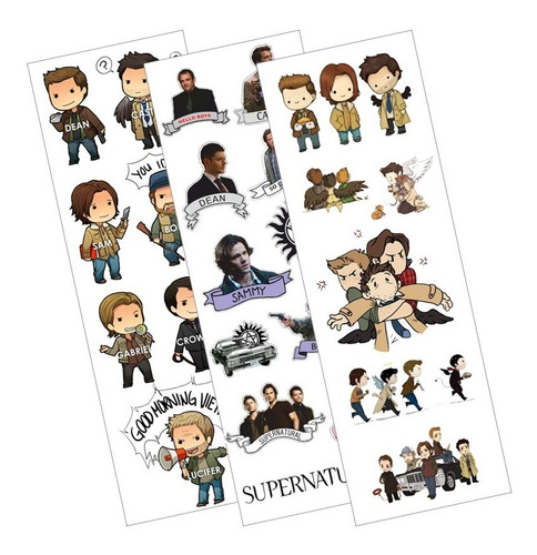 Plancha De Stickers De Series Supernatural Dean Winchester