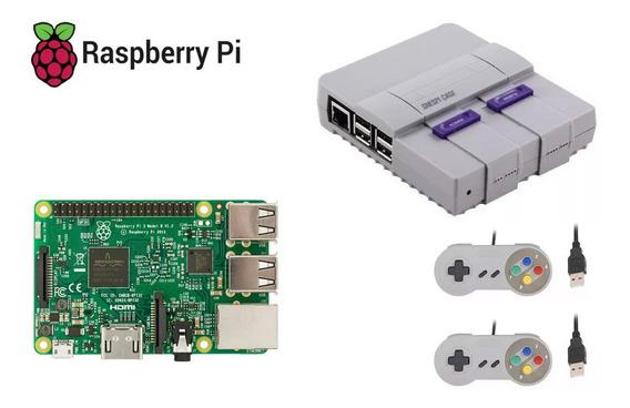Raspberry Pi 3 Model B 1.2ghz 1gb + Case E 2 Controles Snes