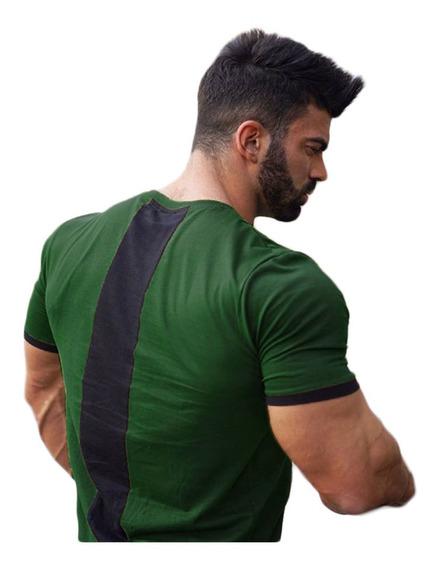 Camiseta Masculina Bicolor Regata Blusas Fitness Academia Musculação Verão