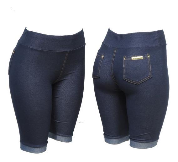 Kit C/4 Bermuda Legging Malha Jeans (imita Jeans)
