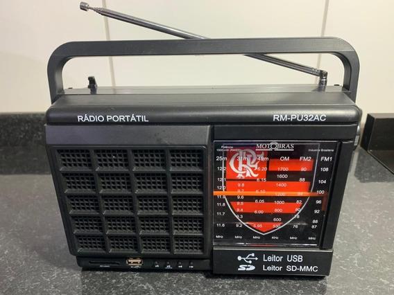 Rádio Motobras 6fxs Fm1/fm2/om/49m/31m/25m/usb/sdcard