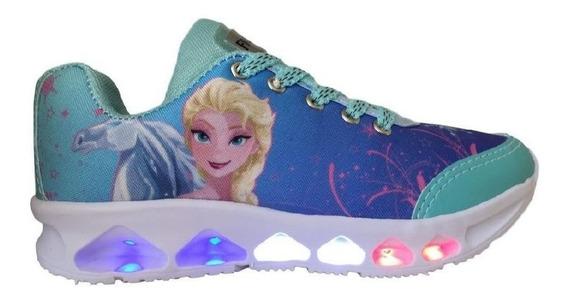 Tenis Frozen Luzes 300-fz Infantil Menina