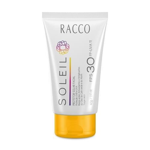 Protetor Solar Facial Fps 30 Soleil Racco 40g