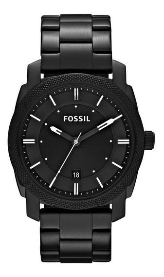 Relógio Masculino Fossil Fs4775/1pn 42mm Aço Preto