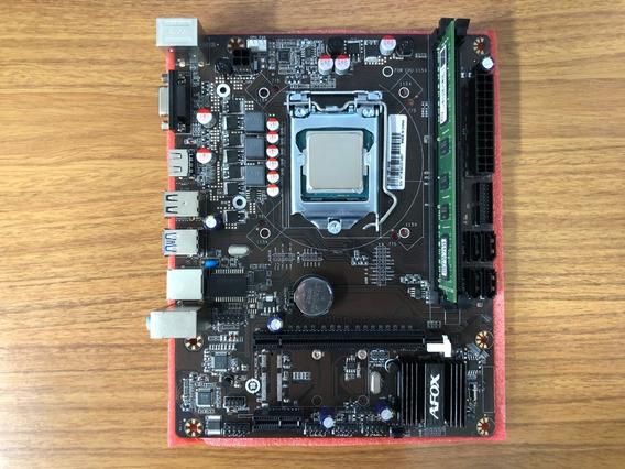 Kit Processador I5 4590 3,30 Ghz + Placa H81 Afox + 8gb 1600