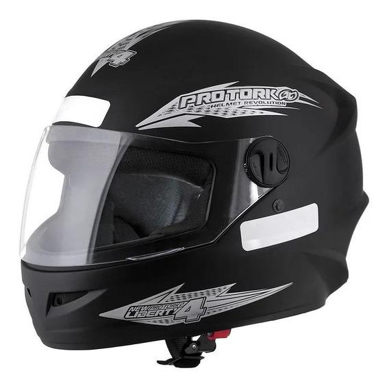 Capacete para moto integral Pro Tork New Liberty Four preto-fosco tamanho 60