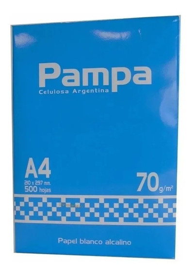 Resma A4 Pampa 500 Hojas 70grms Papel