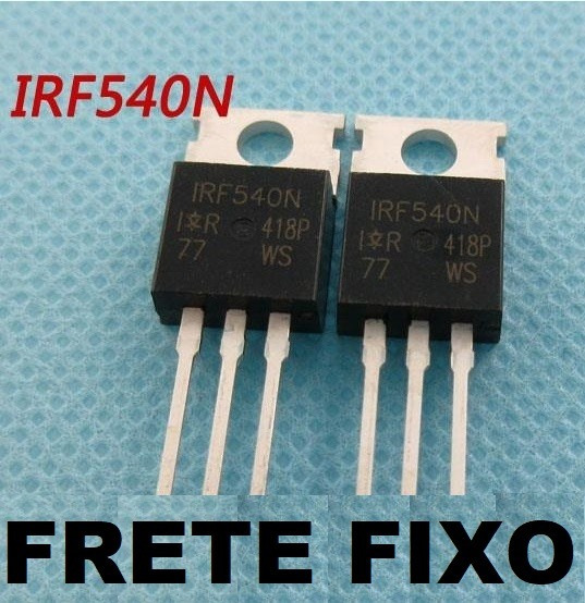 5 Peças Transistor Irf540n Irf 540 Irf540 ( Frete Fixo )