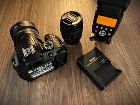 Nikon D3400 + 35mm F/1.8 + Lente Kit + Flash Yn565ex Ac. Nfs