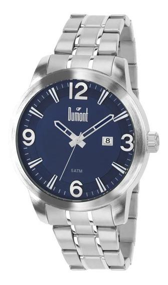 Relógio Dumont Prata Masculino Berlim Du2315ap/3a De Vitrine
