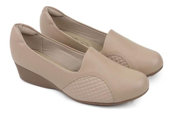 Sapato Modare Ultraconforto Anabela Joanete Bege 7014.229