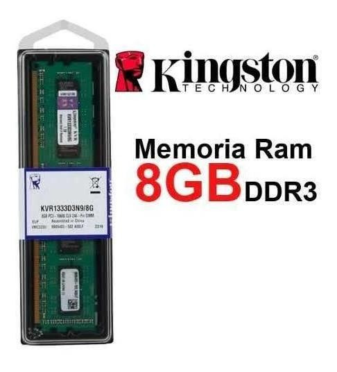 Memória Kingston 8gb Ddr3 1333 Desktop