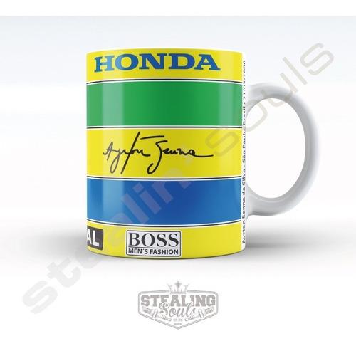 Taza De Porcelana Fierrera - Ayrton Senna #01 | Formula 1