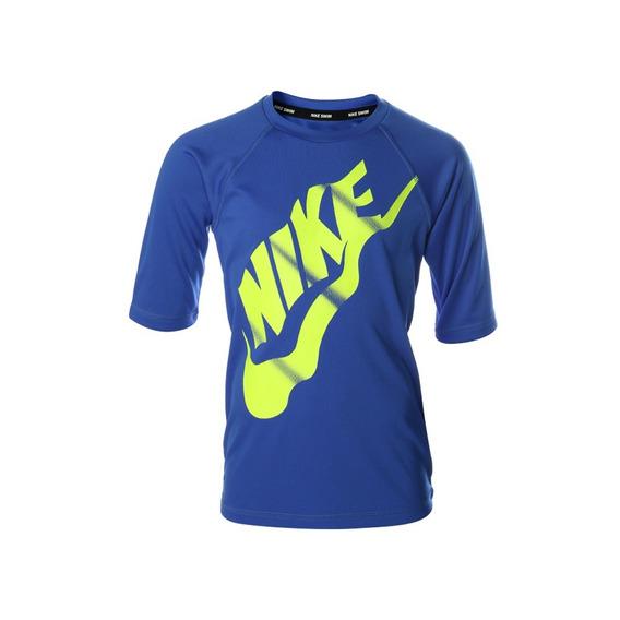 Playera Nike Solid Hydroguard Ness8688 Niño + Envío Gratis
