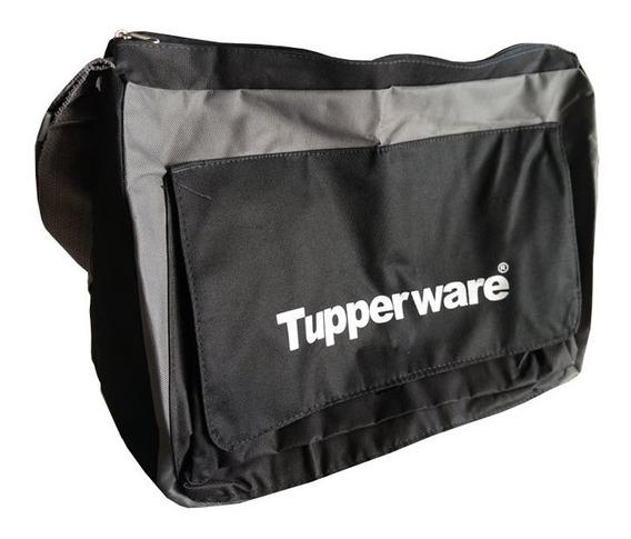 Tupperware Bolsa Nova Consultora Preto/cinza 4 Pçs