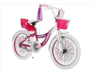 Bicicleta Raleigh Rodado 20 Aluminio Nena Jazzi Violet Envio