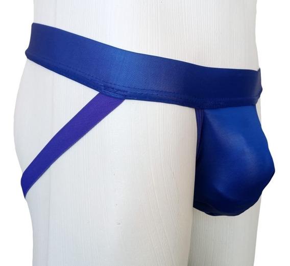Cueca Jockstrap Bojo Grande Mais Conforto Cirre Azul Sexlord
